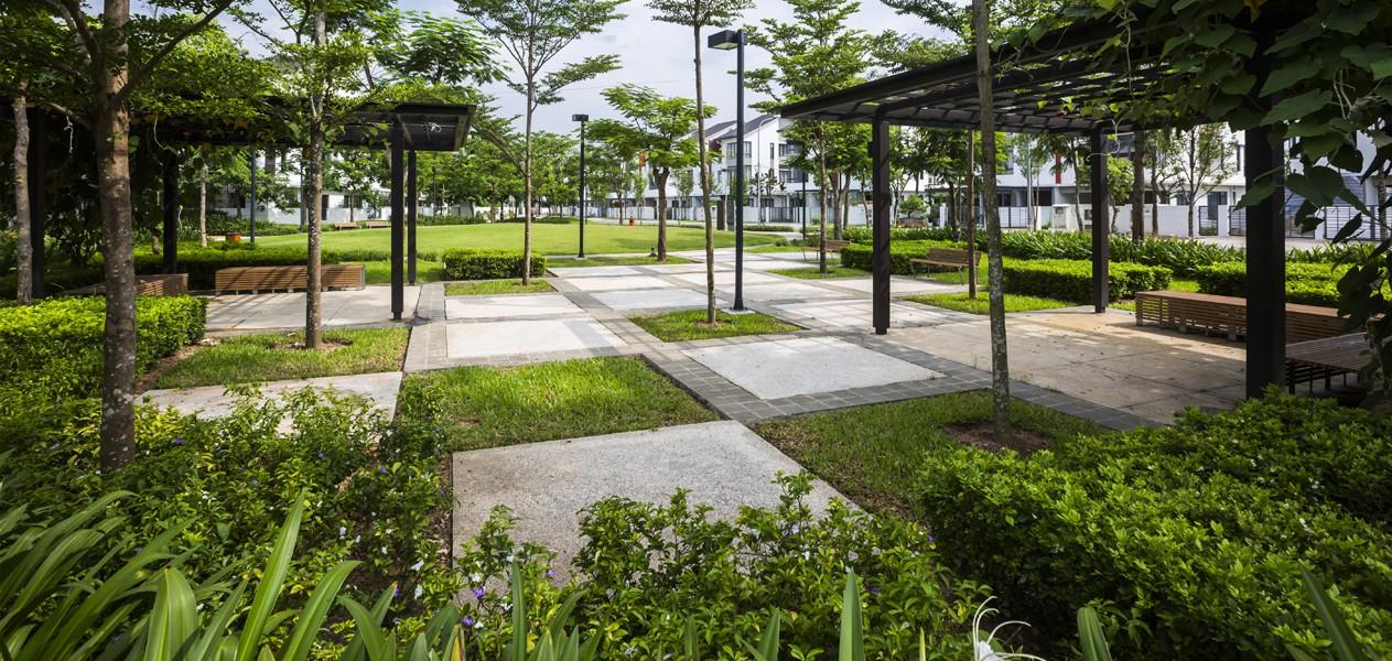 Khong gian xanh tai gamuda gardens