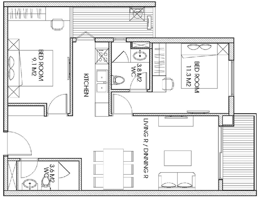 thiet-ke-2-phong-ngu-the-two-residence