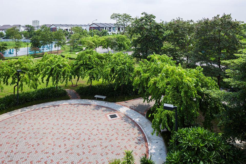 Không gian xanh tại khu biệt thự đơn lập Gamuda