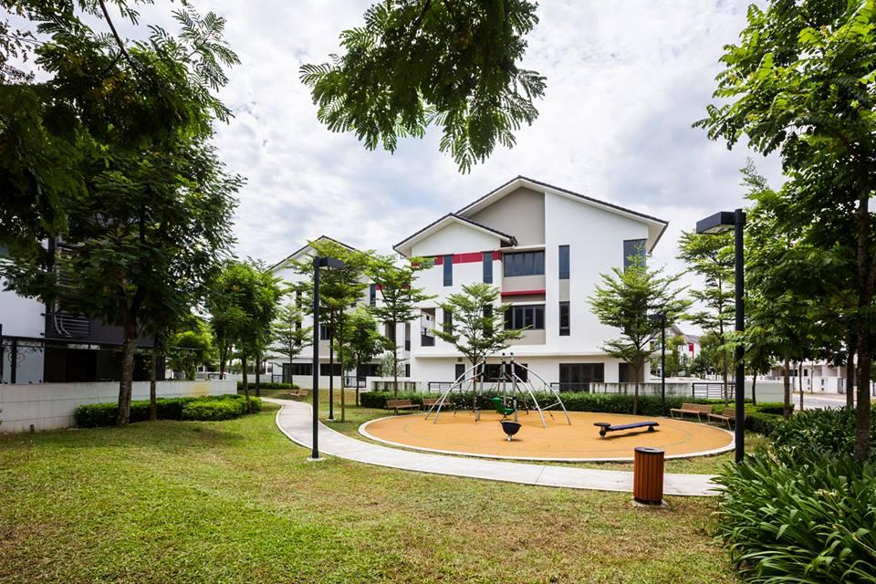 Không gian trong khu biệt thự Gamuda