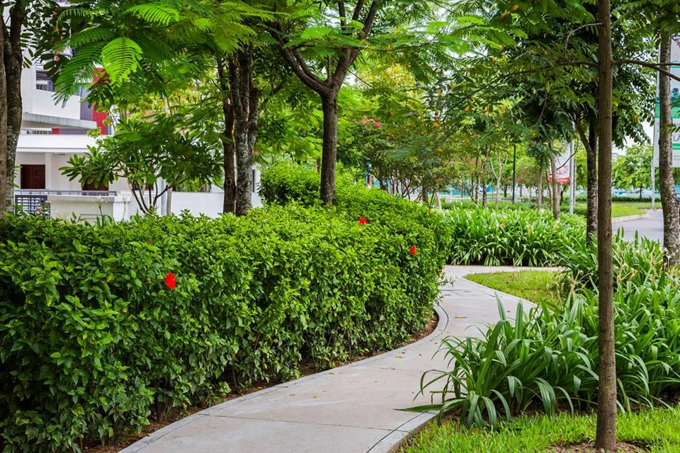 Không gian xanh tại gamuda gardens