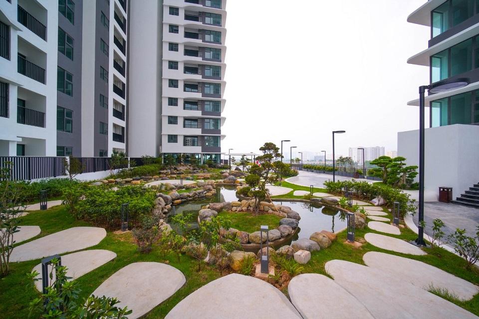Cảnh quan sân vườn chung cư The Zen Residence