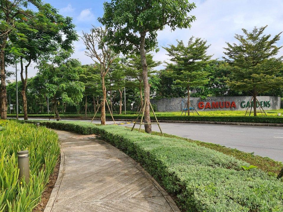 Không gian xanh khu đô thị Gamuda Hà Nội