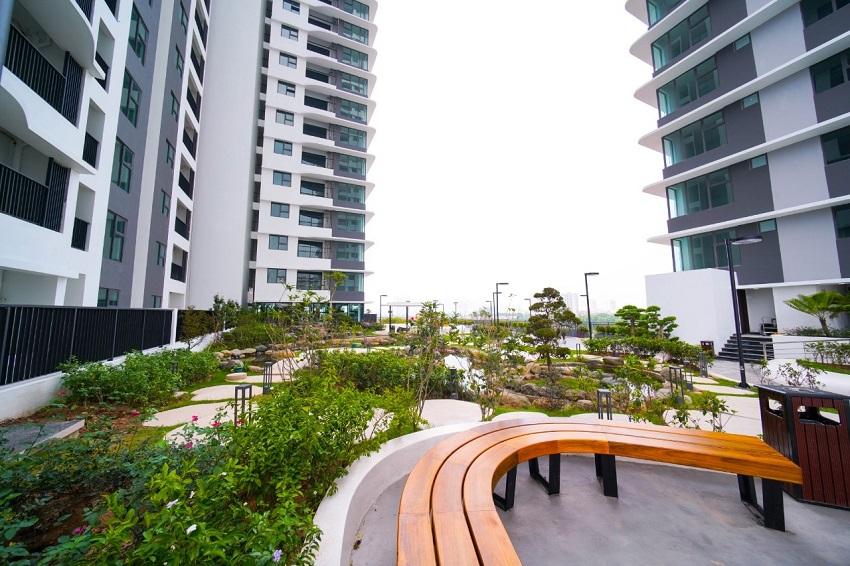 Cảnh quan tầng 5 chung cư The Zen Gamuda