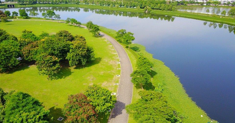 Đường dạo bộ công viên Yên Sở