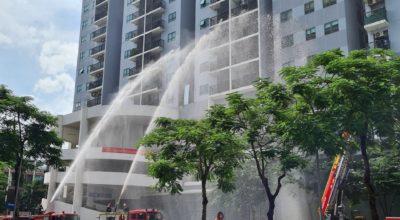 Diễn tập Phòng cháy chữa cháy tại chung cư gamuda gardens
