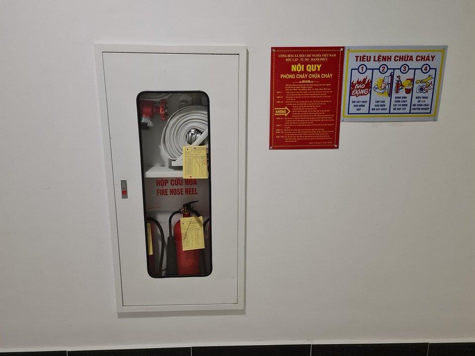 các thiết bị Phòng cháy chữa cháy tại chung cư gamuda